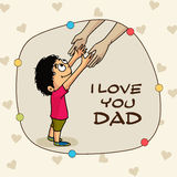 Greeting card for Happy Fathers Day. Stock Image