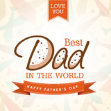 Greeting card for Happy Fathers Day. Royalty Free Stock Image