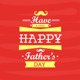 Greeting card for Happy Fathers Day. Stock Photography