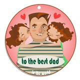 Greeting card happy father's day Royalty Free Stock Image