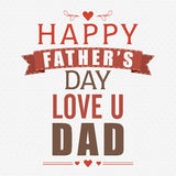 Greeting card for Happy Fathers Day. Royalty Free Stock Photography