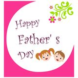 Happy fathers day. Greeting card of happy fathers day Vector Illustration