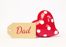 Greeting card - happy fathers day Stock Photos