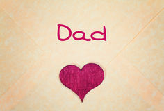Greeting card - happy fathers day. Lovely greeting card - happy fathers day royalty free stock photo