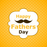 Greeting card happy fathers day Royalty Free Stock Image