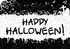Greeting card for Happy Halloween! Stock Photos