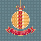 Greeting Card Happy Holidays  Vector. Ball Form Royalty Free Stock Image