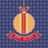 Greeting Card Happy Holidays  Vector. Ball Form Stock Photo
