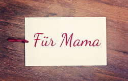 Greeting card happy mother`s day Stock Image