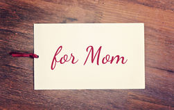 Greeting card happy mother`s day Royalty Free Stock Photos