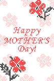 Greeting card Happy Mother's Day with flowers Stock Images