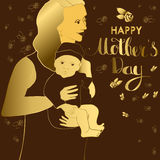 Greeting card for Happy Mothers Day celebration. Royalty Free Stock Image