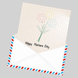 Greeting card - Happy mothers day. Royalty Free Stock Images