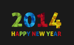 2014 greeting card. Happy new year 2014 greeting card vector illustration