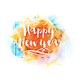 Greeting card for Happy New Year celebration. Creative abstract design decorated greeting card for Happy New Year celebration Stock Photos