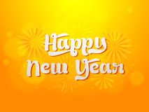 Greeting card for Happy New Year celebration. Stock Image
