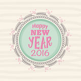 Greeting card for Happy New Year 2016. Elegant greeting card design for Happy New Year 2016 celebration Royalty Free Stock Images