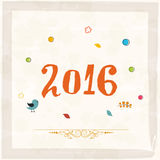 Greeting card for Happy New Year 2016. Elegant greeting card design with stylish text 2016 for Happy New Year celebration Royalty Free Stock Photos