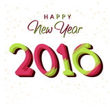 Greeting card for Happy New Year 2016. Elegant greeting card design with stylish text 2016 for Happy New Year celebration Royalty Free Stock Images
