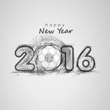 Greeting card for Happy New Year 2016. Stock Image