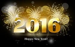 2016 greeting card Royalty Free Stock Photos
