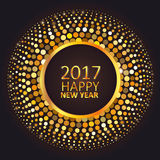 Greeting card Happy New Year 2017 Royalty Free Stock Image