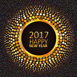 Greeting card Happy New Year 2017 Stock Image