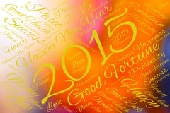 Greeting Card Happy New Year 2015 Royalty Free Stock Photography