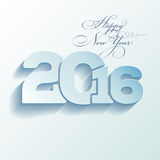 Greeting card - Happy New Year 2016 Stock Photos