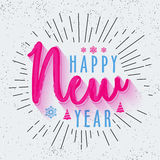 Greeting Card for Happy New Year. Stylish Text design Happy New Year on abstract background, Elegant greeting card design Stock Images