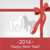 Greeting Card. Happy New Year card.Vector illustration Stock Photo