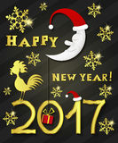 Greeting card happy new year vector illustration. Stock Photo