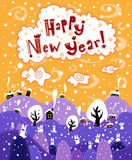 Greeting card Happy New Year Royalty Free Stock Image