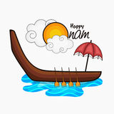 Greeting card for Happy Onam celebration. Stock Photography