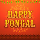 Greeting card for Happy Pongal celebration. Royalty Free Stock Image