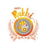 Greeting Card for Happy Rakhi celebration. Stock Images