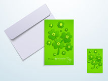 Greeting card for Happy St. Patrick's Day celebration. Royalty Free Stock Photography