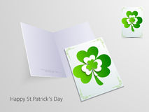 Greeting card for Happy St. Patrick's Day celebration. Stock Photography