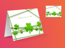 Greeting card for Happy St. Patrick's Day celebration. Royalty Free Stock Image