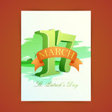 Greeting card for Happy St. Patricks Day celebration. Stock Images