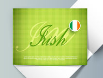 Greeting card for Happy St. Patrick's Day celebration. Royalty Free Stock Images