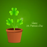 Greeting card for Happy St. Patricks Day celebration. Royalty Free Stock Image
