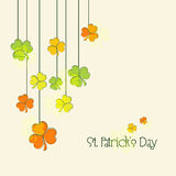 Greeting card for Happy St. Patricks Day celebration. Royalty Free Stock Images