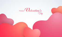 Greeting card for Happy Valentines Day celebration. Stock Photo