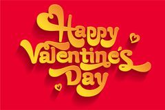 Greeting card, happy Valentine`s day greeting vector image. A gift for a loved one. Greeting gift, happy Valentine`s day greeting vector image. A gift for a Stock Photography