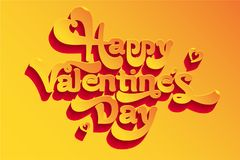 Greeting card, happy Valentine`s day greeting vector image. A gift for a loved one. Greeting gift, happy Valentine`s day greeting vector image. A gift for a Royalty Free Stock Photo