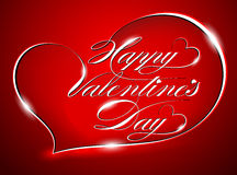 """Greeting Card """"Happy Valentines Day"""" Royalty Free Stock Photography"""