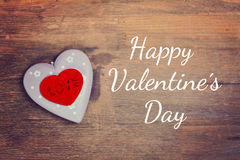 Greeting card happy valentine´s day Royalty Free Stock Photos