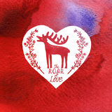 Greeting card Happy Valentine's day. Stock Photo