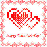 Greeting card happy Valentine's Day Stock Images